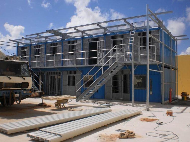 De containercellen bij de Point Blanche-gevangenis.  Beeld DJI / Rijksoverheid.nl