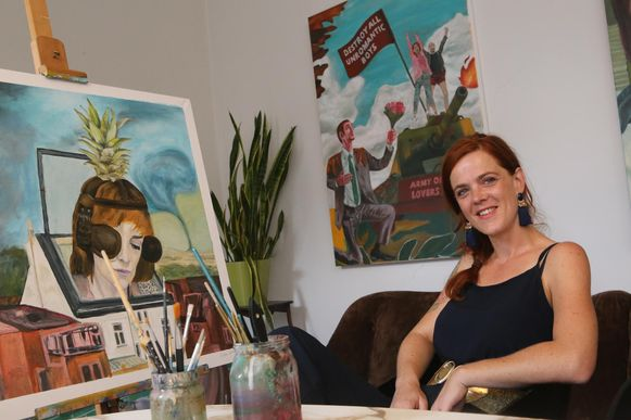 Elleke Van Win hoopt haar weg te kunnen vinden als kunstenares.