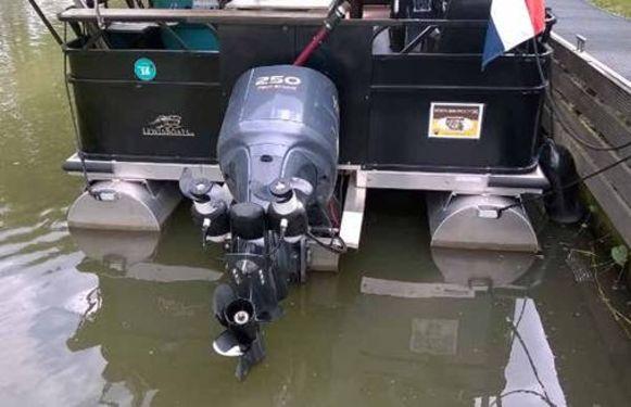 Archieffoto. Een buitenboordmotor van de boot.