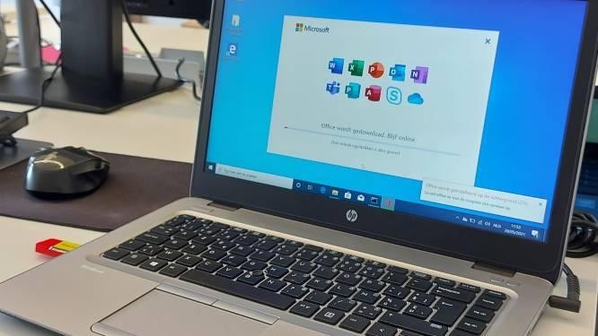 Zorgzaam Beerse schenkt 47 laptops aan kwetsbare jongeren