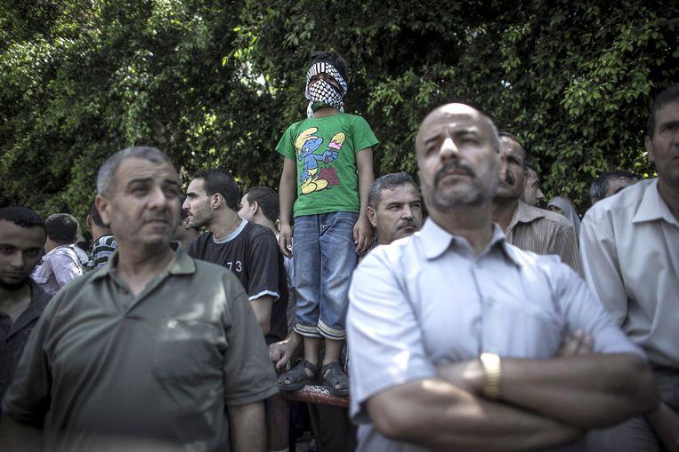 SMURF Pro-Hamasbijeenkomst, Gaza Stad, 2014. Beeld -