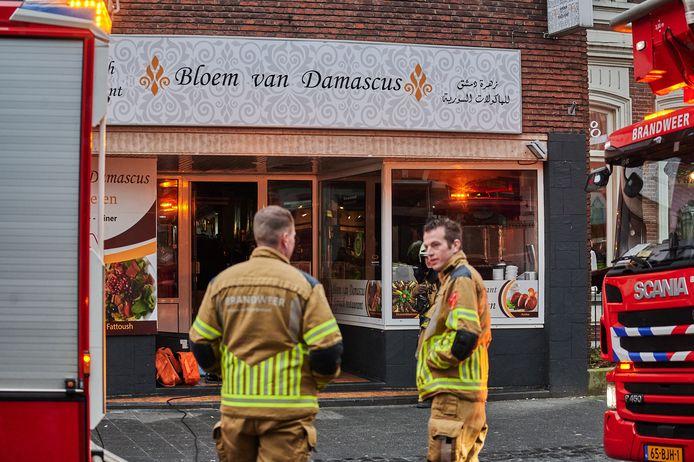 Brand in Syrisch restaurant snel geblust door eigenaar.