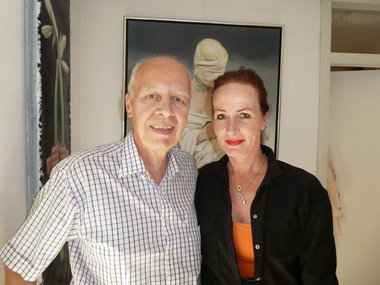 Wybe Tuinman, de man van Markus, en Sigrid Markus, duidelijk een dochter van haar moeder. Beeld Hans van der Beek