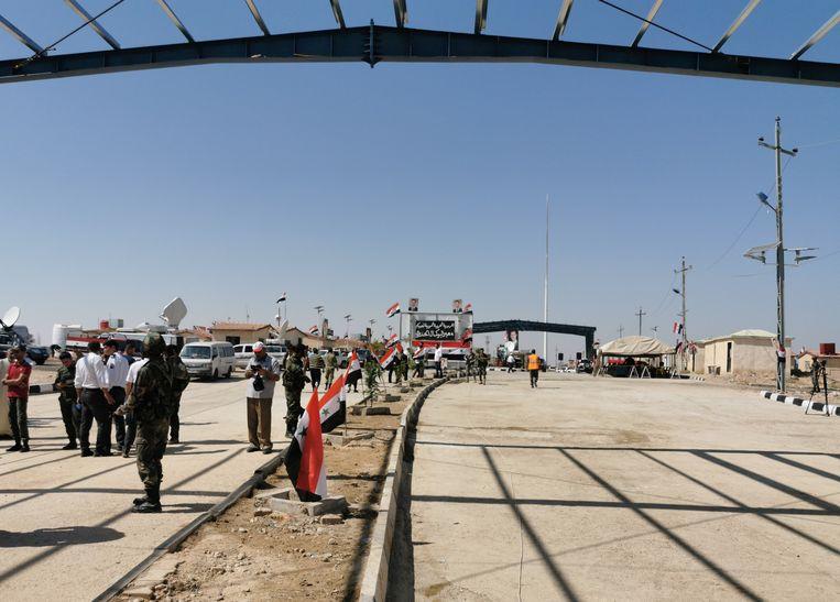 De grensovergang al-Qaim.