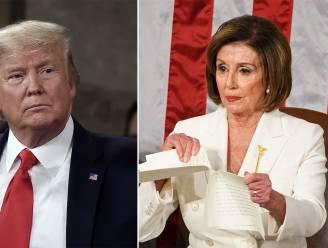 Na het verscheuren van de speech: hoe het respect tussen Pelosi en Trump omsloeg in haat en de voorbije maanden steeds tastbaarder werd