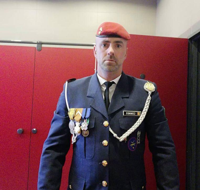 Jurgen Conings in legeruniform. Beeld RV