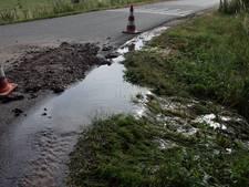 Deel van wijk Vijverberg zonder water door leidingbreuk