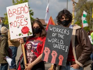 PVDA Limburg en sympathisanten voeren statische actie op Dag van de Arbeid