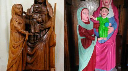 """Alweer gaat """"restauratie"""" mis: katholiek kunstwerk in bizar blits kleedje"""