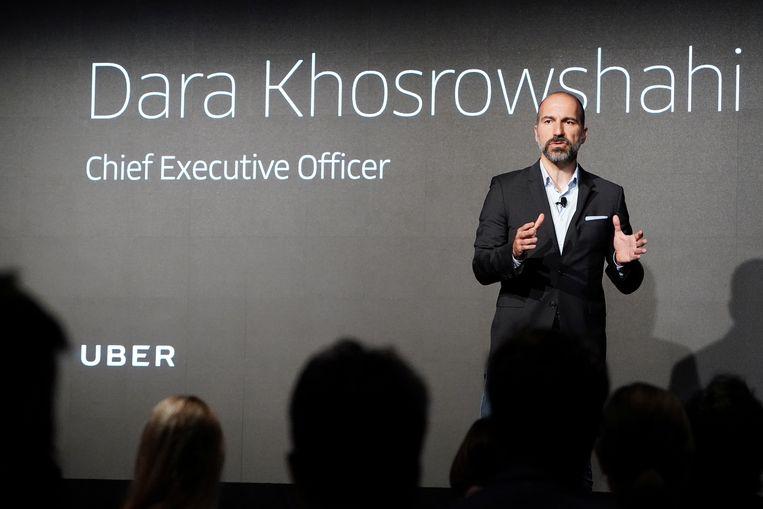 Dara Khosrowshahi, topman van de taxidienst Uber, heeft veel uit te leggen. Beeld REUTERS