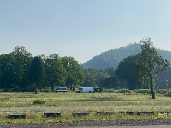 Gisteren vond ook een zoekactie plaats in de omgeving van Genk.
