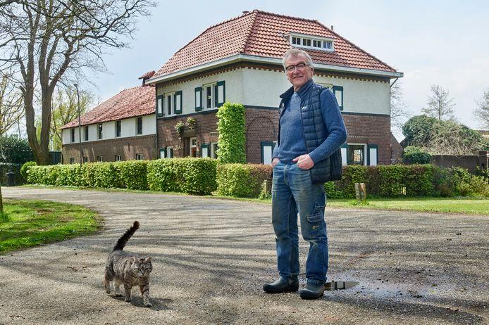 Het huis van Don van Grunsven aan Den Dam te Huisseling.