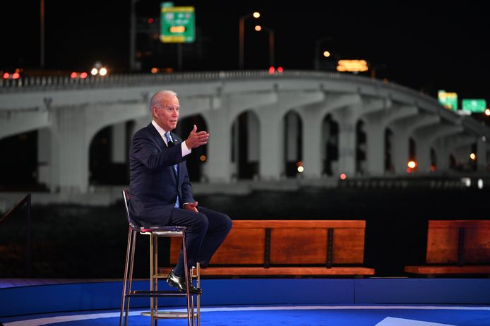 De Democratische presidentskandidaat Joe Biden