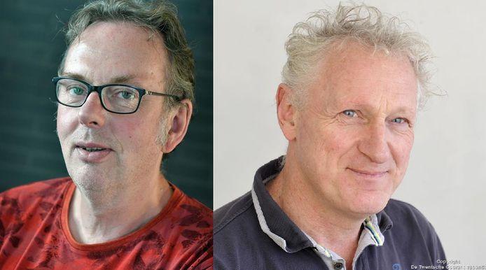 Dick Janssen (l) en Hans Brok gaan in debat.
