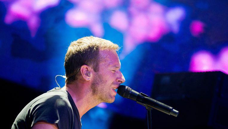 Coldplay-voorman Chris Martin Beeld null