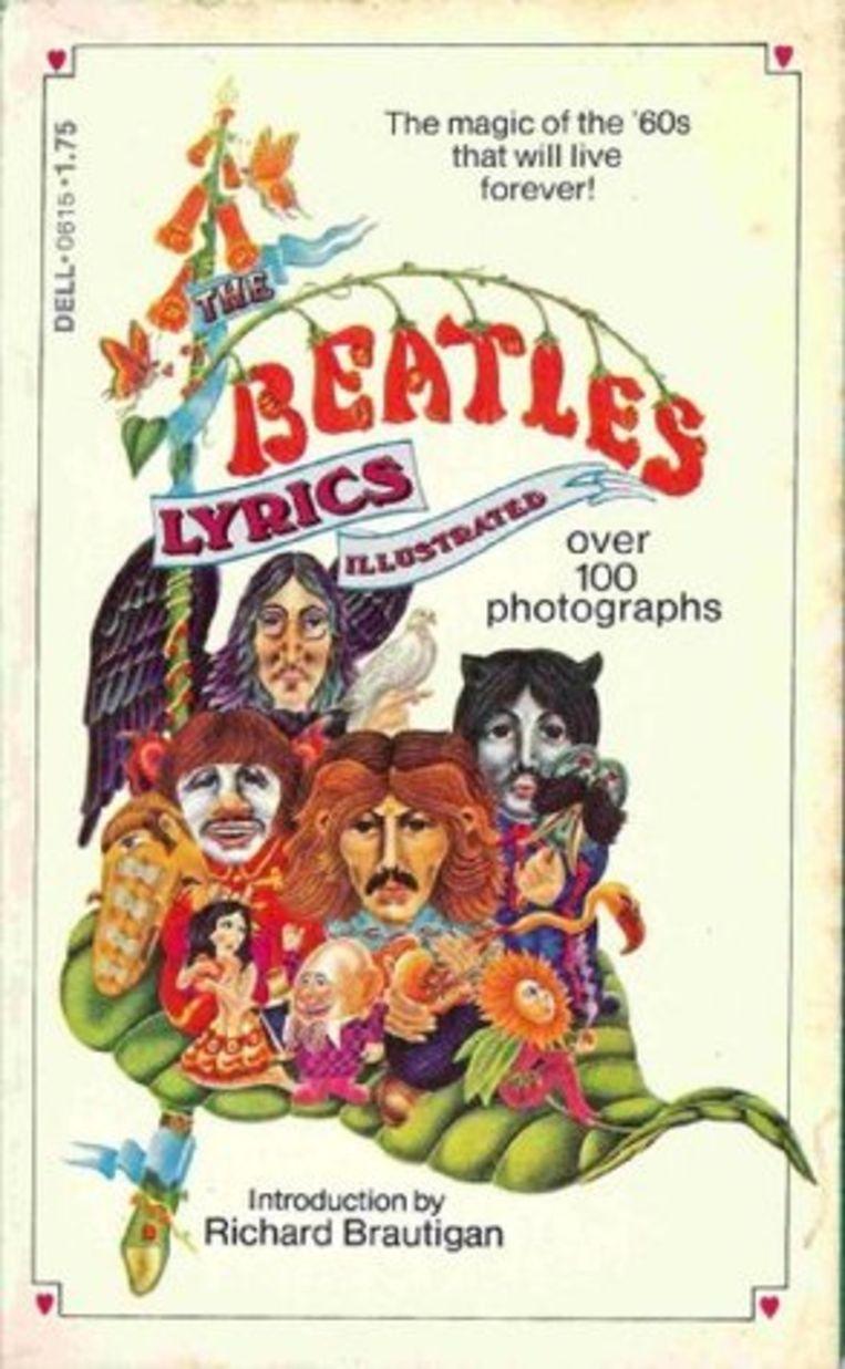 De cover van The Beatles Illustrated Lyrics. Beeld