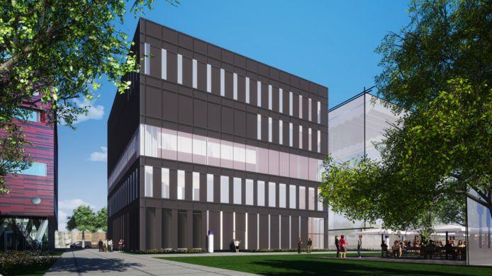 Een impressie van het gebouw Panther, dat Pharming op het Pivot Park gaat bouwen.