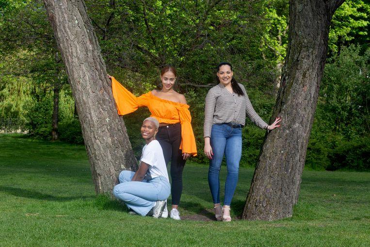 vlnr: Alysha Seferina, Kimberly Bokma en Neftaly Albertsz Beeld Maartje Geels