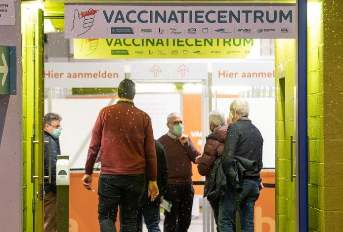 Sfeerbeeld in het vaccinatiecentrum.