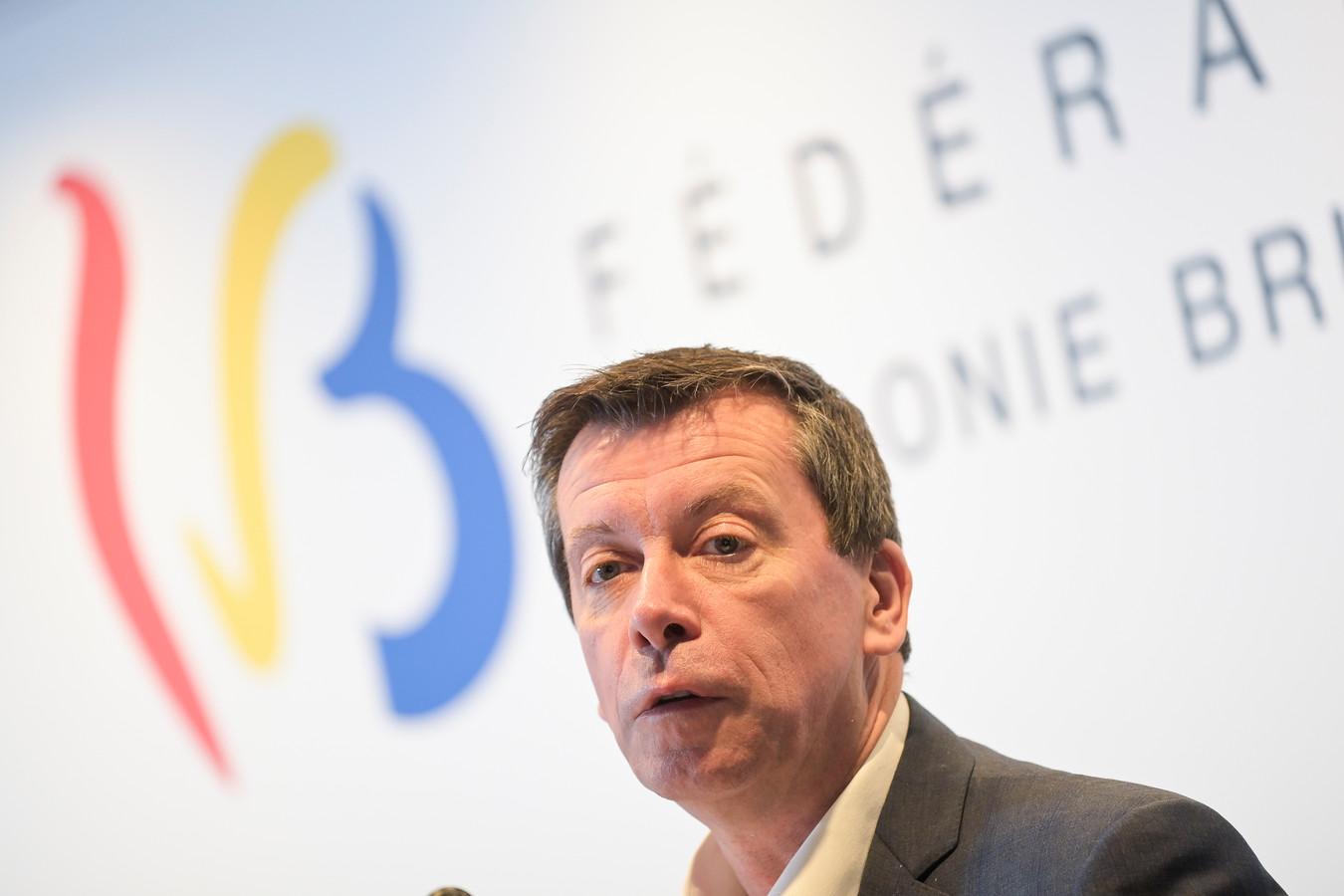 Le Ministre des Bâtiments Scolaire en Fédération Wallonie-Bruxelles, Frédéric Daerden (PS).