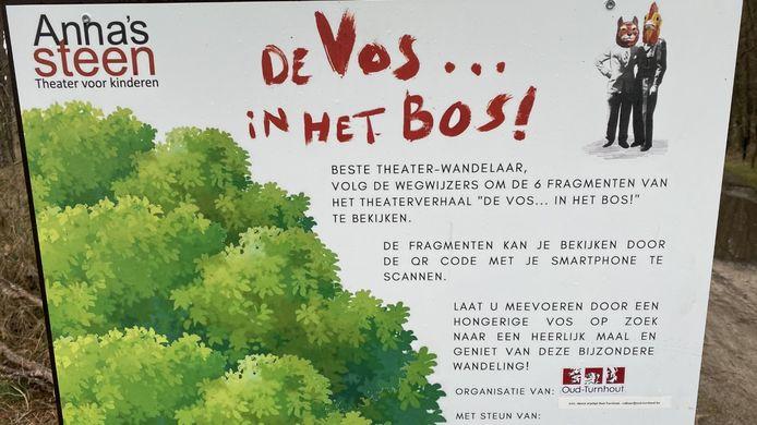 De theaterwandeling 'De Vos in het bos' kan nog tot en met 21 februari gewandeld worden