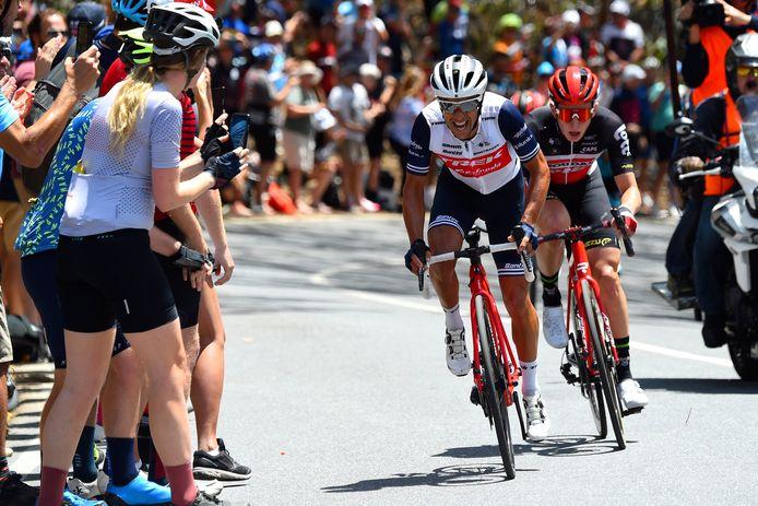 Richie Porte won tijdens de Tour Down Under al zes keer op Willunga Hill.