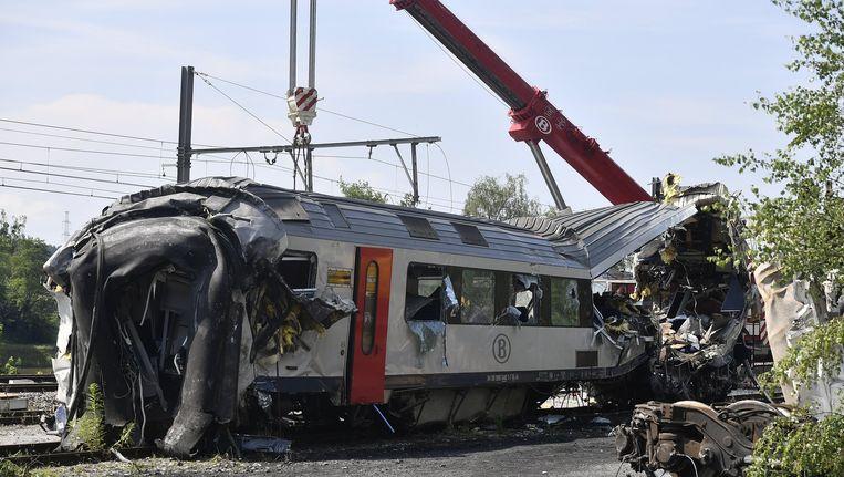 Een noodremsysteem aan het sein bij Saint-Georges-sur-Meuse had het ongeval kunnen voorkomen. Beeld belga