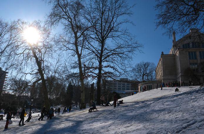 Le parc Léopold ce mardi 9 février.