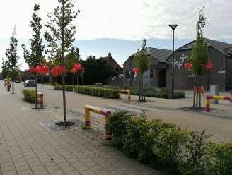 KLJ doet dorpskern en schoolomgeving Oostmalle met ballonnen rood kleuren