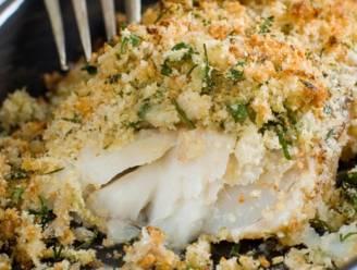 Bak kabeljauw met een krokant korstje en waterkerspuree