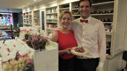 Pas geopend Pralinja verkoopt exclusieve roze praline