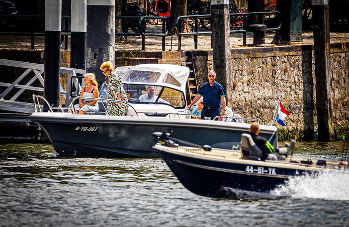 Pleziervaart op de Oude Maas bij Dordrecht dit weekend. Foto ter illustratie.