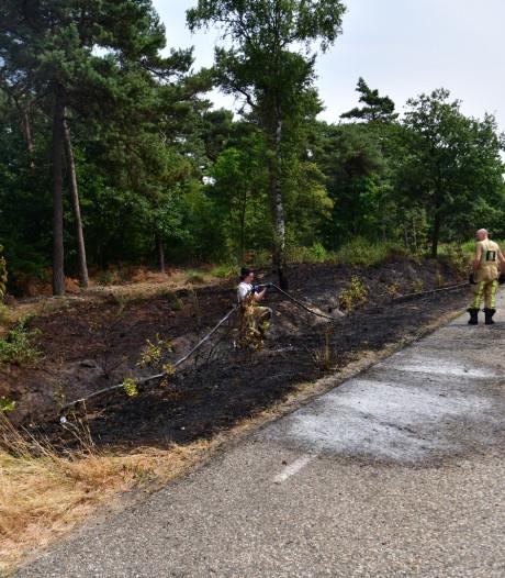 Rijkswaterstaat en brandweer waarschuwen: snel brand in gortdroge natuur