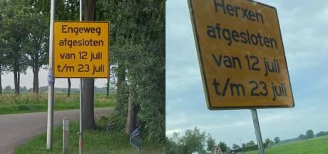 Ben ik nu in Herxen of Elshof? Gemeente zet foutjes met borden snel recht: 'Het blijft mensenwerk'