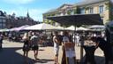 Op de Grote Markt in Gorinchem is dit beeld al tijden niet gezien. En voorlopig verandert dit niet.