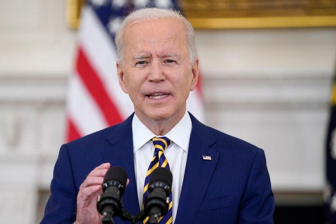 President Joe Biden eerder deze week in het Witte Huis.