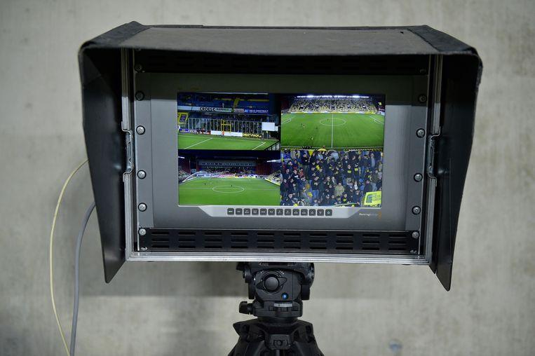 Wie mag in de toekomst het Belgisch voetbal uitzenden? Beeld BELGA