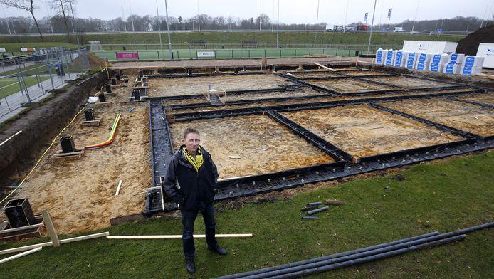 Op het complex De Woerd in Driebergen wordt het nieuwe clubhuis van Dalto gebouwd