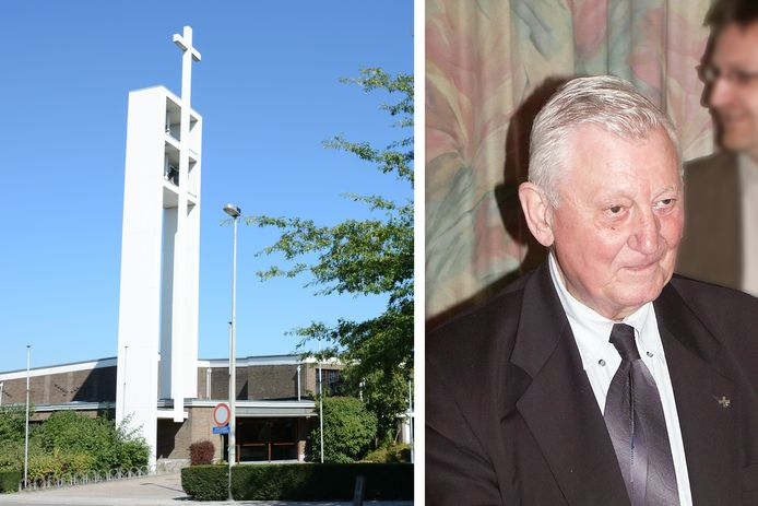 Pastoor Marcel Van Peteghem legde zelf nog de eerste steen van de kerk Sint-Jan-Evangelist in de Gaverlandwijk.