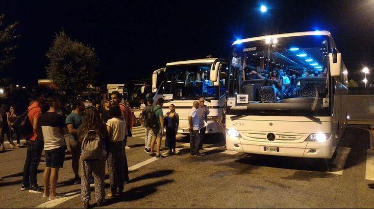 Een autocar van het Italiaanse 'Bus to Go'. Beeld rv