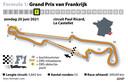 Het circuit van Paul Ricard in Le Castellet.