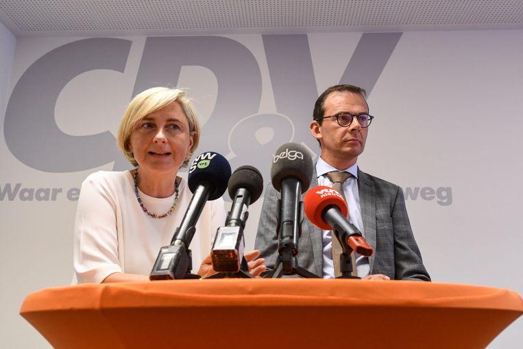 Hilde Crevits en Wouter Beke