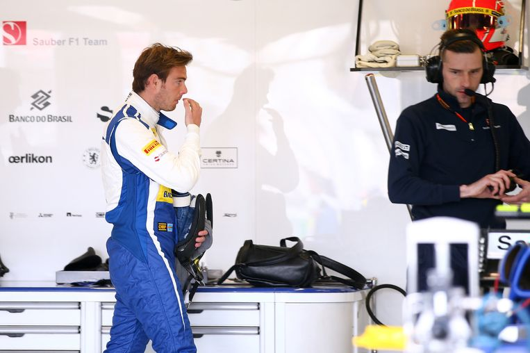 GFiedo van der Garde was in Melbourne nog in de pits te zien van Sauber. Beeld getty