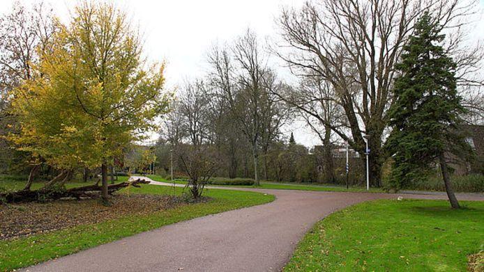 Eén van de plekken waar de serieaanrander in Alkmaar toesloeg.