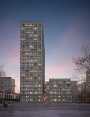 Een impressie van Talent Square II, op de hoek van de Hart van Brabantlaan en St. Ceciliastraat. Hoogbouwtilburg