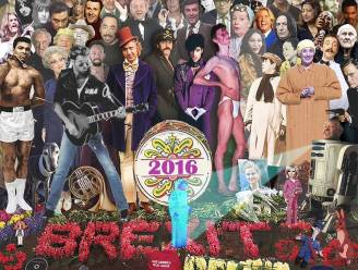 Deze prent toont alle iconen die ons verlieten in 2016