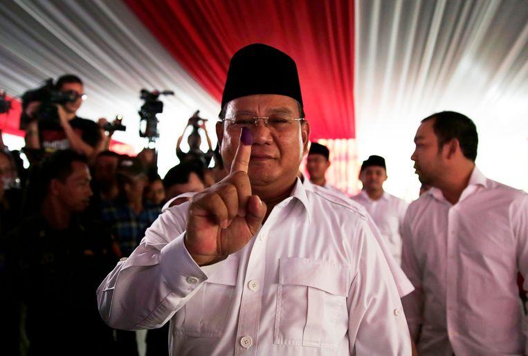 Oud-generaal en zakenman Prabowo Subianto. Beeld reuters