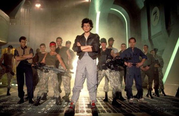 Sigourney Weaver in 'Aliens'. Beeld rv