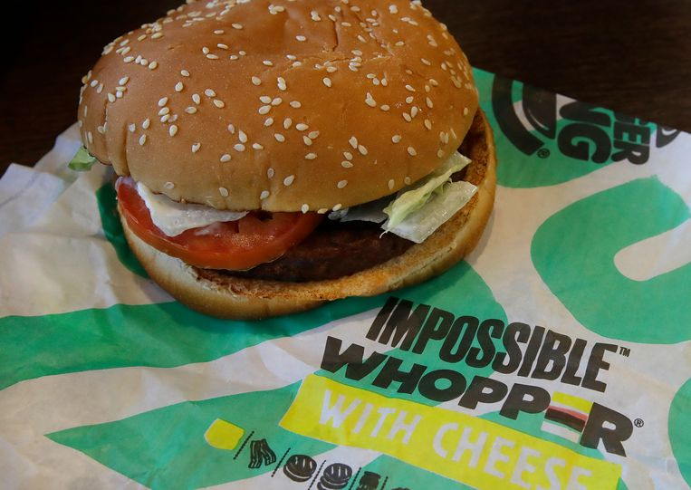 De Amerikaanse variant van de vegetarische Whopper. Beeld AP