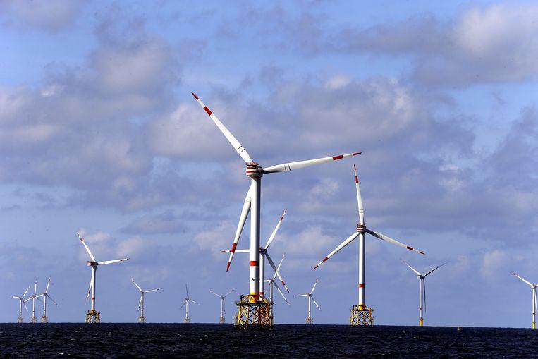 Hernieuwbare energie op zee is volgens EU-vicevoorzitter Frans Timmermans 'een waar Europees succesverhaal'. Beeld BELGA